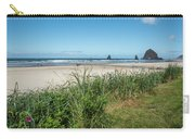 Cannon Beach And Purple Bloom Carry-all Pouch