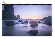 Cannon Beach Rocks Sunset Carry-all Pouch