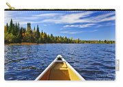 Canoe Bow On Lake Carry-all Pouch by Elena Elisseeva