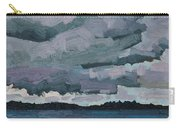 Canoe Lake Rain Clouds Carry-all Pouch