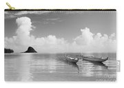 Canoe Landscape - Bw Carry-all Pouch