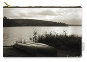 Canoe On A Shore Of A Lake At Dawn Carry-all Pouch