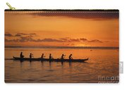 Canoe Paddlers Silhouette Carry-all Pouch