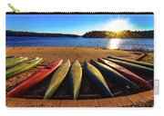 Canoes At Sunset Carry-all Pouch
