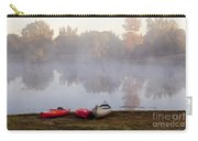 Canoes By A Foggy Lake In Autumn Carry-all Pouch