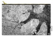 Canopy Of Autumn Leaves In Black And White Carry-all Pouch