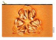 Cantaloupe Melon Inside Carry-all Pouch by Johan Swanepoel