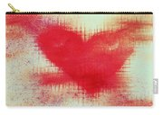 Canvas Heart Carry-all Pouch