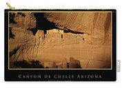 Canyon De Chelly Arizona Black Border Carry-all Pouch