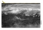 Canyon In Clouds Bw Carry-all Pouch