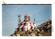 Cape Bonavista Lighthouse, Newfoundland, Canada Old And New Lamp Carry-all Pouch