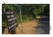 Cape Cod Rail Trail Sign Eastham Path Carry-all Pouch