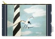 Cape Hatteras Lighthouse - Ship Wheel Border Carry-all Pouch