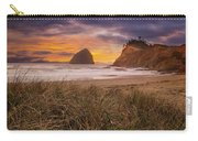 Cape Kiwanda In Pacific City Beach At Sunset Carry-all Pouch