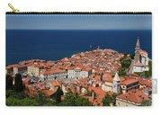 Cape Madonna At Point Of Piran Slovenia On Blue Adriatic Sea Wit Carry-all Pouch
