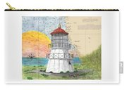 Cape Mendocino Lighthouse Ca Nautical Chart Map Carry-all Pouch
