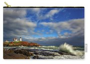 Cape Neddick Lighthouse Carry-all Pouch by Rick Berk