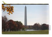 Capital Autumns - The Washington Monument - Under The Trees Carry-all Pouch