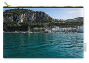 Capri Island Silky Smooth Emerald And Aquamarine Carry-all Pouch