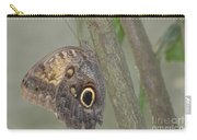 Captivating Photo Of A Brown Morpho Butterfly Carry-all Pouch