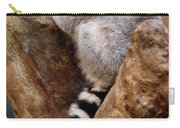 Captive Ring Tailed Lemur Perched In A Stone Tree Carry-all Pouch