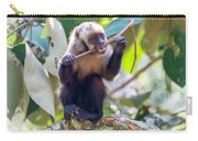Capuchin Monkey Chewing On A Stick Carry-all Pouch