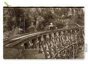 Car On A Wooden Railroad Trestle Circa 1916 Carry-all Pouch