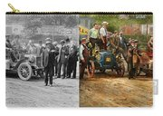 Car - Race - The End Of A Long Journey 1906 - Side By Side Carry-all Pouch