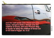 Car Reflection With Text 4 Carry-all Pouch
