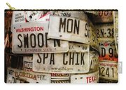 Car Tags Carry-all Pouch