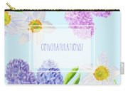 Card With Spring Flowers Carry-all Pouch
