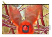 Cardinal In Flight Abstract Carry-all Pouch