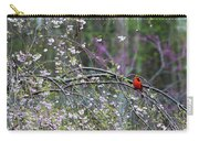 Cardinal In Flowering Tree Carry-all Pouch