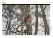Cardinal In Snow Storm Carry-all Pouch