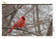 Cardinal In The Winter Carry-all Pouch