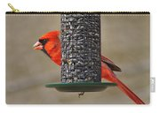 Cardinal On Feeder Carry-all Pouch