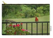 Cardinal On Fence Carry-all Pouch
