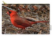 Cardinal On Pine Straw Carry-all Pouch