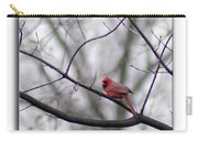 Cardinal Perched On A Branch Carry-all Pouch