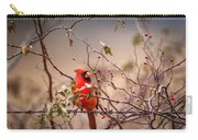 Cardinal With A Mouthful Of Hips Carry-all Pouch
