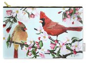 Cardinals And Apple Blossoms Carry-all Pouch