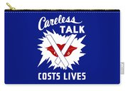 Careless Talk Costs Lives  Carry-all Pouch by War Is Hell Store