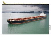 Cargo Ship Under Stormy Sky Carry-all Pouch