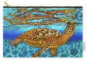 Caribbean Hawksbill Sea Turtle Carry-all Pouch