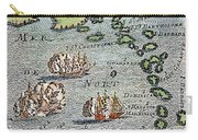 Caribbean Map Carry-all Pouch