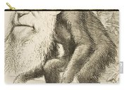 Caricature Of Charles Darwin Carry-all Pouch