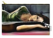 Carla Bruni With Guitar Carry-all Pouch
