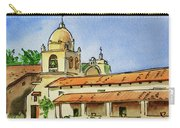 Carmel By The Sea - California Sketchbook Project  Carry-all Pouch by Irina Sztukowski