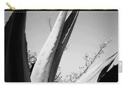Carmel Mission Agave In B And W Carry-all Pouch
