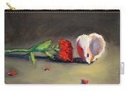 Carnation Flower And Sea Shell Carry-all Pouch
